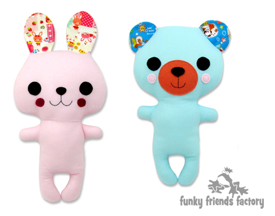 Funky Friends Factory – Bunny or Teddy Softies / Soft Toys